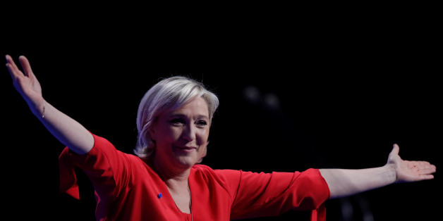 Marine Le Pen, French National Front (FN) political party leader and candidate for French 2017 presidential election, attends a political rally in Chateauroux, France, March 11, 2017.  REUTERS/Christian Hartmann