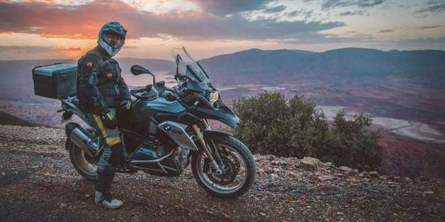 Un Marocain va faire le tour de l'Afrique à moto pour rejoindre Dubaï