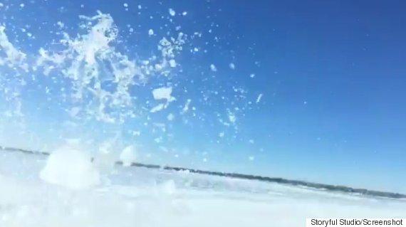 truck falls through ice lake winnipeg