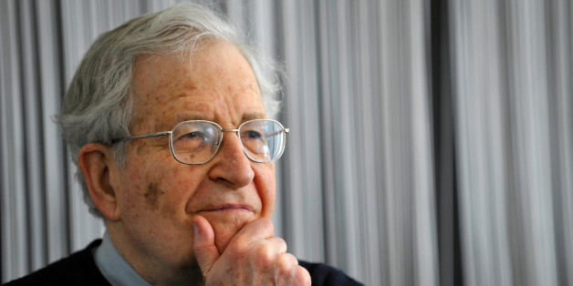 US linguist, philosopher and political activist, Noam Chomsky addresses a press conference in the southern German city of Stuttgart on March 23, 2010. Chomsky was awarded the 'Erich Fromm Prize' from the International Erich Fromm Society. AFP PHOTO DDP /  SASCHA SCHUERMANN GERMANY OUT (Photo credit should read SASCHA SCHUERMANN/AFP/Getty Images)