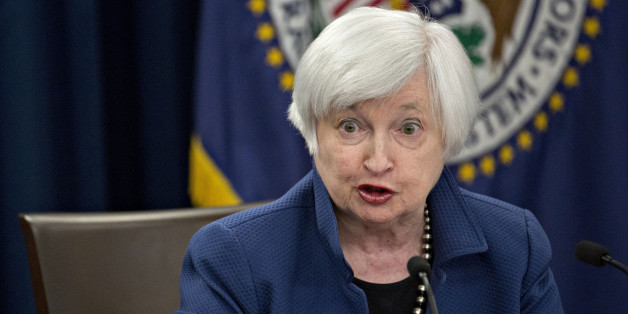 Janet Yellen, chair of the U.S. Federal Reserve, speaks during a news conference following a Federal Open Market Committee (FOMC) meeting in Washington, D.C., U.S., on Wednesday, March 15, 2017. The Federal Reserve raised its benchmark lending rate a quarter point and continued to project two more increases this year, signaling more vigilance as inflation approaches its target. Photographer: Andrew Harrer/Bloomberg via Getty Images
