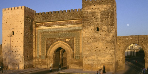 MOROCCO - MARCH 5: Bab el-Khemis gate, Meknes, Morocco, 17th century. (Photo by DeAgostini/Getty Images)