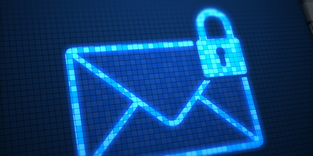 Secure mail on digital screen