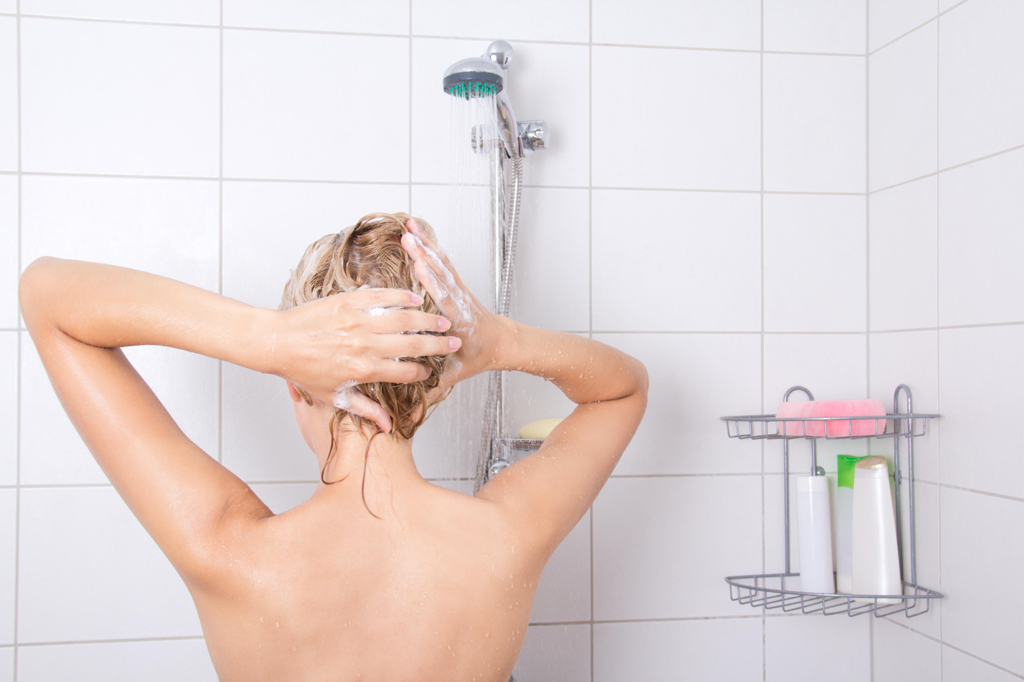 hair woman bath