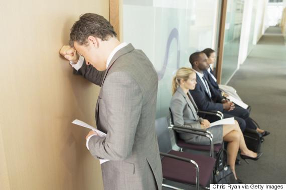 nervous job interview