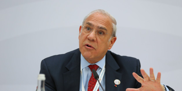 BADEN-BADEN, GERMANY - MARCH 17:  OECD Secretary-General Angel Gurria speaks during the 'Going for Growth' report presentation during the G20 finance minister's meeting on March 17, 2017 in Baden-Baden, Germany. The meeting is taking place ahead of the G20 summit scheduled in Hamburg in July.  (Photo by Thomas Niedermueller - Pool/Getty Images)