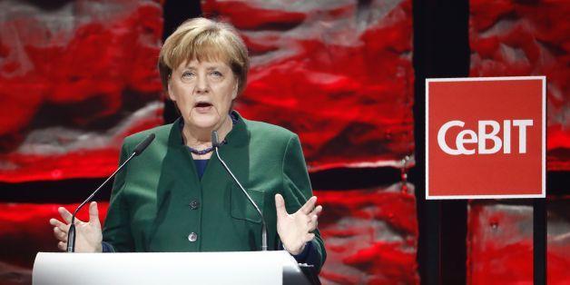 Bundeskanzlerin Angela Merkel auf der Cebit