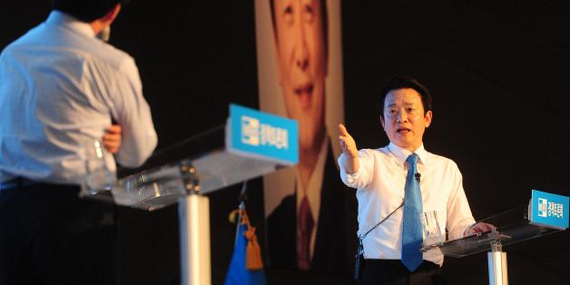 남경필 바른정당 대선주자가 21일 오후 부산 동구 부산항국제여객터미널 컨벤션센터에서 열린 '바른정당 영남권 정책토론회'에서 발언을 하고 있다.