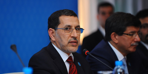 "Morocco's Foreign Minister Saad-Eddine El Othmani attends a ""Friends of Syria"" group conference in Marrakech December 12, 2012. The group, Western and Arab nations sympathetic to Syria's uprising against President Bashar al-Assad, gave full political recognition on Wednesday to Syria's opposition, reflecting a hardening consensus that the 20-month-old uprising might be nearing a tipping point. REUTERS/Abderrahmane Mokhtari (MOROCCO - Tags: POLITICS)"