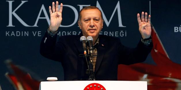 Der türkische Präsident Erdogan bei einer Rede