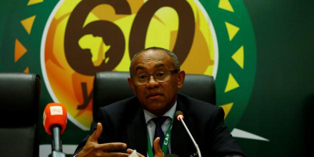Jeudi 16 mars 2017 au siège de la Confédération Africaine de Football à Addis Abeba (Ethiopie) - le Malgache Ahmad Ahmad vient d'être élu président de la CAF