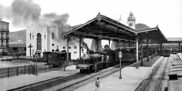 ALGERIA - CIRCA 1910:  Oran (Algeria). The station of the P.L.M. (Paris Lyons - Mediterranean). Years 1910. LL-259B (13X18).  (Photo by LL/Roger Viollet/Getty Images)