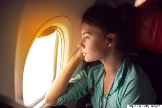 woman plane