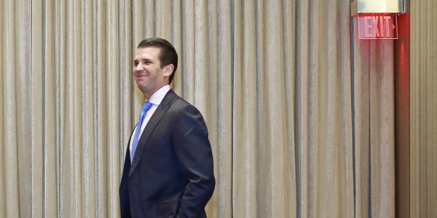 VANCOUVER, BRITISH COLUMBIA - FEBRUARY 28: Donald Trump Jr. arrives at a ceremony for the official opening of the Trump International Tower and Hotel on February 28, 2017 in Vancouver, Canada. The tower is the Trump Organization's first new international property since Donald Trump assumed the presidency. (Photo by Jeff Vinnick/Getty Images)
