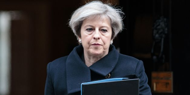 British Prime Minister Theresa May leaves 10 Downing Street in central London on March 23, 2017. 