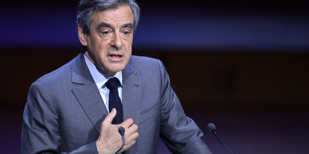 PARIS, FRANCE - MARCH 22:  French Presidential Candidate Francois Fillon addresses mayors during a conference at Maison de la Radio on March 22, 2017 in Paris, France. The Presidential Election candidate answer France mayors questions after a speech about their electoral program.  (Photo by Aurelien Meunier/Getty Images)