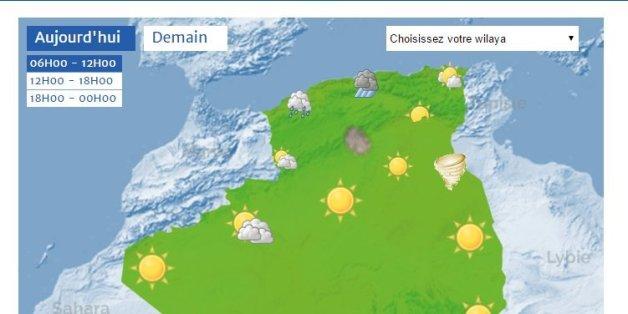 Carte Algerie Meteo.Lancement Officiel De La Carte De Vigilance Meteorologique
