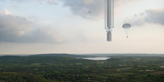 Der umgedrehte Wolkenkratzer: Das höchste Gebäude der Welt soll aus dem Himmel hängen