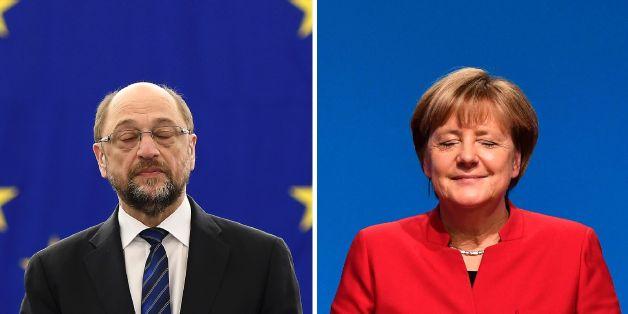 Die beiden wurden von ihren Parteien ins Rennen um das Kanzleramt geschickt: Martin Schulz (SPD) und Angela Merkel (CDU)