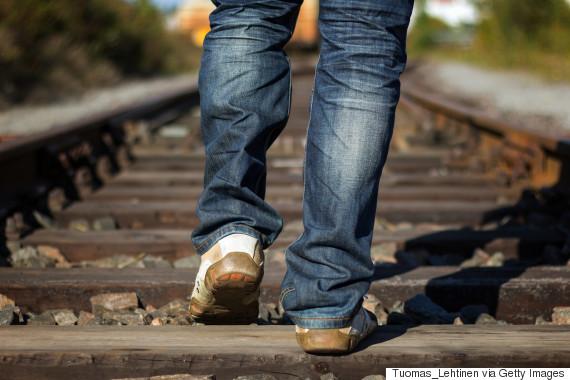 feet railroad tracks