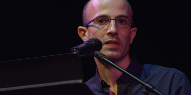Professor Yuval Noah Harari, author and Professor of History at the Hebrew University of Jerusalem, speaks about themes from his new book 'Homo Deus: A Brief History of Tomorrow' on September 8, 2016 at the Dancehouse Theatre as part of the Manchester Literature Festival in Manchester, England. (Photo by Jonathan Nicholson/NurPhoto via Getty Images)