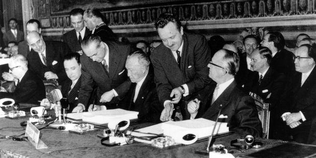 Grundstein der EU: Vor 60 Jahren unterschrieben die Regierungschefs nur weiße Blätter - das steckt dahinter