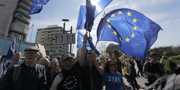EU-Flaggen in der britischen Hauptstadt London