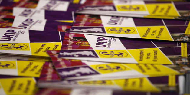 United Kingdom Independence Party (UKIP) local manifestos are displayed at their spring conference in Bolton, Britain, February 17, 2017. REUTERS/Andrew Yates