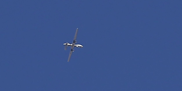 A US made MQ-9 Reaper military drone flies over the city of Mosul, on November 22, 2016, during a massive operation to oust IS jihadists from the country's second city.The fighting inside the city so far has focused on eastern neighbourhoods, which elite counter-terrorism and army forces entered earlier this month.The Islamic State group has offered fierce resistance to defend its last remaining bastion in Iraq, the city where its leader Abu Bakr al-Baghdadi proclaimed a caliphate in June 2014.