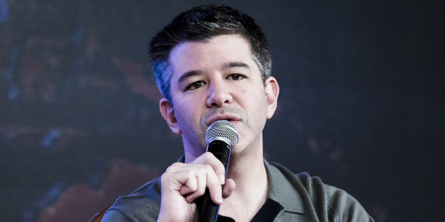 Travis Kalanick, co-founder and chief executive officer of Uber Technologies Inc., speaks during th TiE Global Entrepeneurs Summit in New Delhi, India, on Friday, Dec. 16, 2016. Kalanick said the company will introduce Uber Moto across India. Photographer: Udit Kulshrestha/Bloomberg via Getty Images