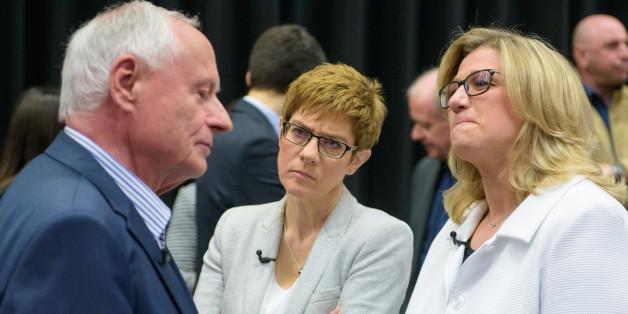Die Spitzenkandidaten im Saarland: Oskar Lafontaine (Linke), Annegret Kramp-Karrenbauer (M), Anke Rehlinger (SPD)