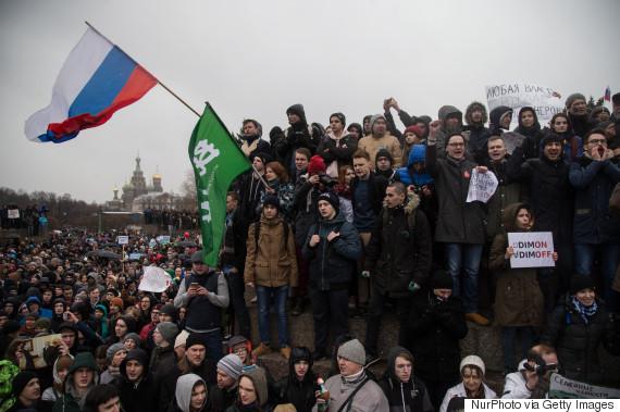 protest russia 2017 march