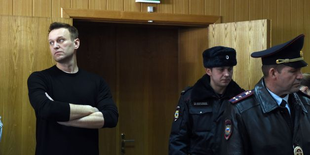 Kremlin critic Alexei Navalny, who was arrested during March 26 anti-corruption rally, attends a hearing at a court in Moscow on March 27, 2017.Russian opposition leader Alexei Navalny was sentenced to 15 days behind bars and fined Monday after he and more than 1,000 other demonstrators were detained at an anti-corruption protest in Moscow that was branded a 'provocation' by the Kremlin. / AFP PHOTO / Vasily MAXIMOV        (Photo credit should read VASILY MAXIMOV/AFP/Getty Images)