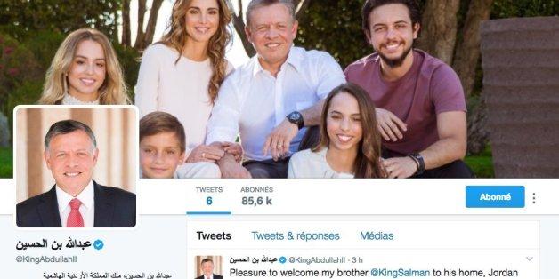 Le roi de Jordanie ouvre son compte Twitter