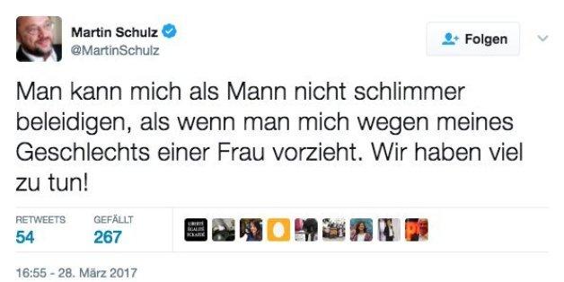 Martin Schulz twittert zum Thema Gleichberechtigung - die Antwort von CDU-Generalsekretär Tauber hat es in sich