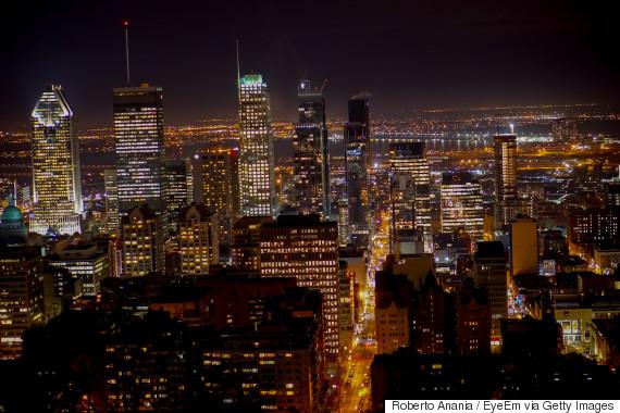 montreal skyline night