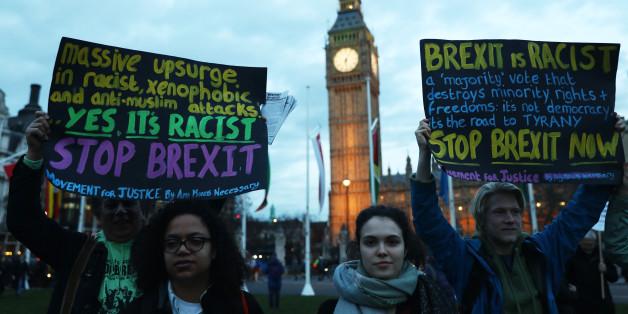 Demonstranten in London protestierten gegen den Brexit