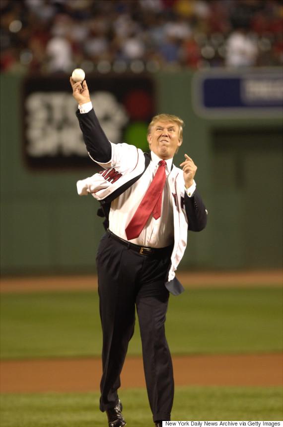 trump pitch baseball