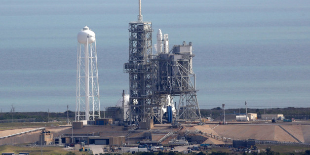 A SpaceX rocket sits on launch pad39A on Saturday, Feb. 18, 2017, after it was scrubbed 13 seconds before it was expected to launch. The new window for the mission, which will send cargo and hundreds of science experiments to the International Space Station, will open Sunday morning. Pad39A is the launch site of a rocket that carried the first U.S. astronauts to the moon. It was also the site of the last Space Shuttle mission in 2011. (Red Huber/Orlando Sentinel/TNS via Getty Images)