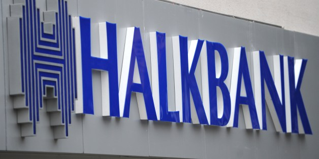 A view of a logo at the entrance of a Halkbank branch on Februrary 14, 2014, in Istanbul. Six suspects in the massive graft probe that has engulfed the Turkish government, including the former general manager of state-run Halkbank, Süleyman Aslan, were released by an Istanbul court pending trial, on February 14, 2014.  AFP PHTO / OZAN KOSE        (Photo credit should read OZAN KOSE/AFP/Getty Images)