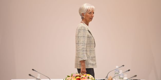 International Monetary Fund (IMF) boss Christine Lagarde takes part in a dialogue with world leaders at the G7 Summit in Shima in Mie prefecture on May 27, 2016. A British secession from the European Union in next month's referendum could have disastrous economic consequences, G7 leaders warned on May 27 at the close of the summit in Japan. / AFP / STEPHANE DE SAKUTIN        (Photo credit should read STEPHANE DE SAKUTIN/AFP/Getty Images)