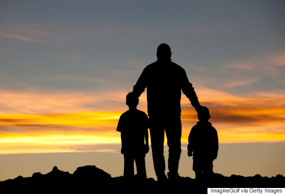twin boys sunset