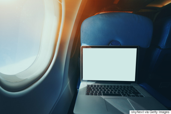 laptop airplane