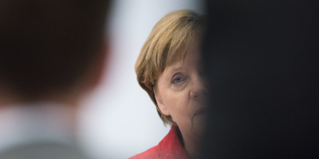 BERLIN, GERMANY - MARCH 29: German Chancellor Angela Merkel addresses CDU/CSU Bundestag Factions with a statement concerning Brexit on March 29, 2017 in Berlin, Germany. The UK government announced it will start the formal procedure for withdrawing from the European Union. (Photo by Steffi Loos/Getty Images)