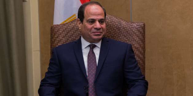 Egyptian president, Al Sissi makes statements during an Egyptian-Greek-Cypriot businessmen's summit to discuss economic cooperation and development between the three countries (Egypt, Greece, Cyprus), particularly in regards to the energy sector in Athens on December 9th 2015. (Photo by Michaud Gael/NurPhoto) (Photo by NurPhoto/NurPhoto via Getty Images)