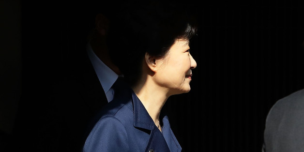 SEOUL, SOUTH KOREA - MARCH 30:  Ousted South Korean President Park Geun-hye leaves for Seoul Central District Court from her private home on March 30, 2017 in Seoul, South Korea. A hearing to determine whether an arrest warrant should be issued for former president Park Geun-hye will be held at the Seoul Central District Court.  (Photo by Chung Sung-Jun/Getty Images)