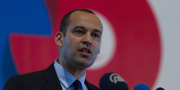 TUNIS, TUNISIA - MAY 24: Yassine Brahim Tunisian Minister of Development, Investment and International Cooperation delivers a speech during 'Europe Days' celebrations in Tunis, Tunisia on May 24, 2016 (Photo by Amine Landoulsi/Anadolu Agency/Getty Images)