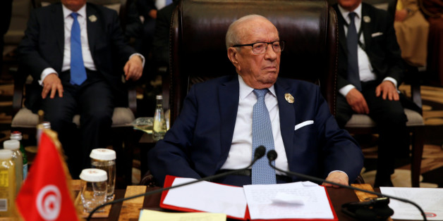 Tunisia's President Beji Caid Essebsi attends the 28th Ordinary Summit of the Arab League at the Dead Sea, Jordan March 29, 2017. REUTERS/Mohammad Hamed