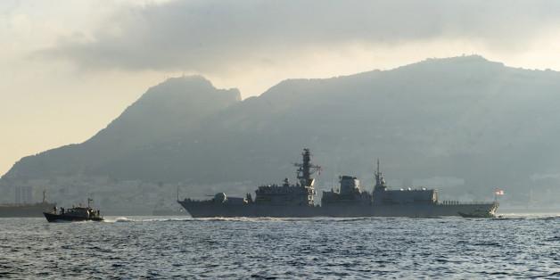 Ein britisches Kriegsschiff vor Gibraltar (Symbolbild)