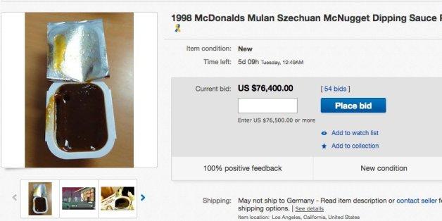 """Auf Ebay liegt das Gebot für ein Foto der """"Szechuan Soße"""" bei über 71.000 Euro"""